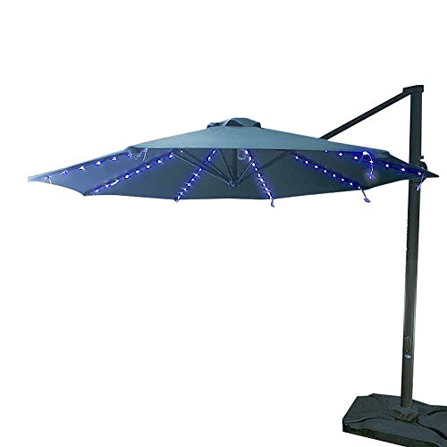 Koffmon Umbrella Lights 8 Lighting Mode 104 LED with Remote Control Battery Operated Waterproof Outdoor Lighting, for Patio Umbrellas/Outdoor Use/Camping Tents (Blue) by Koffmon