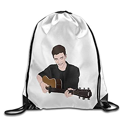 Bekey Shawn Mendes Poster Drawstring Backpack Sport Bag For Men & Women For Home Travel Storage Use Gym Traveling Shopping Sport Yoga Running