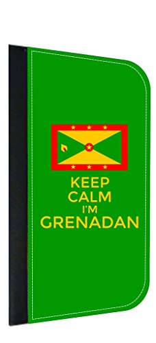 Keep Calm I'm Grenadan Jacks Outlet Samsung Galaxy s8 Plus/ s8+ Phone Case with Closing Flip Cover and Credit Card - George St Outlets