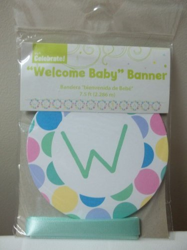Baby Shower Welcome Baby Banner by Wal-Mart]()