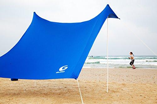 Guro Beach Sun Shade Lightweight Canopy Portable Sun Shelter with Sandbag Anchors 110  x 110  & Beach Sun Shade Lightweight Canopy Portable Sun Shelter with ...
