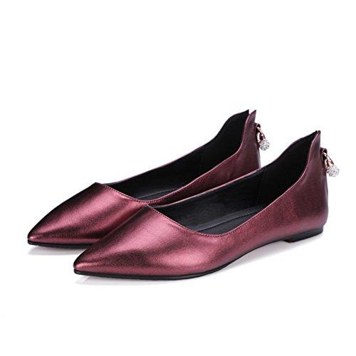 Comodidad plana zapatos asakuchi en primavera/Rhinestones coreanos puntiagudos Joker de zapatos A