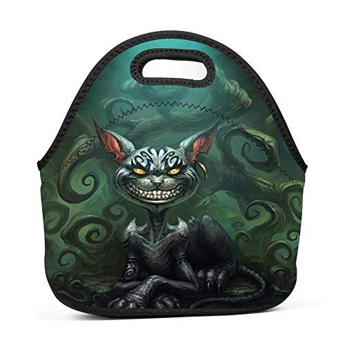 gxcvsddgtrhgdq Villain Cat 3D Printed Reusable Lunch Bag Bento Boxes for Women/Men/Boys/Kids/Teens Girls -