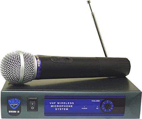 - Nady DKW-3 HT/P VHF Single Receiver Handheld Microphone System