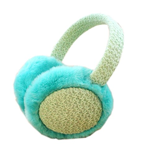 [Teal] Fur Ear Warmer Beautiful Frame Earmuffs Ear Protector Winter Used