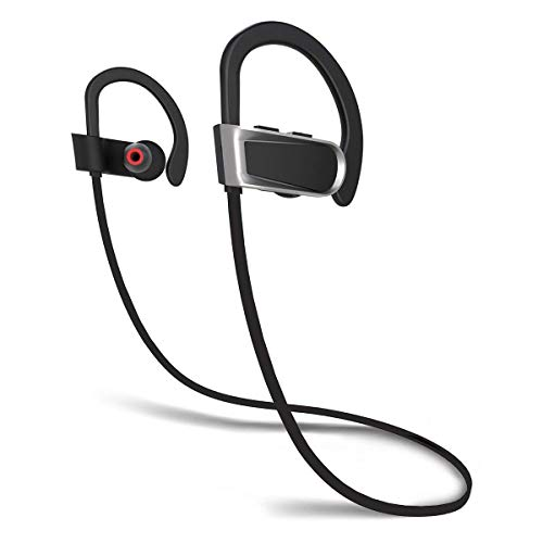 Hiwara Bluetooth Headphones, Wireless Sports Earphones IPX7 Waterproof HD  Stereo Sweatproof Earbuds for Running Rym Workout 8 Hour Battery Noise