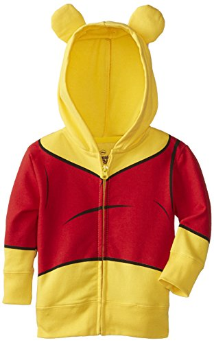 Disney Little Boys' Toddler Pooh Costume Hoody, Orange, 2T]()