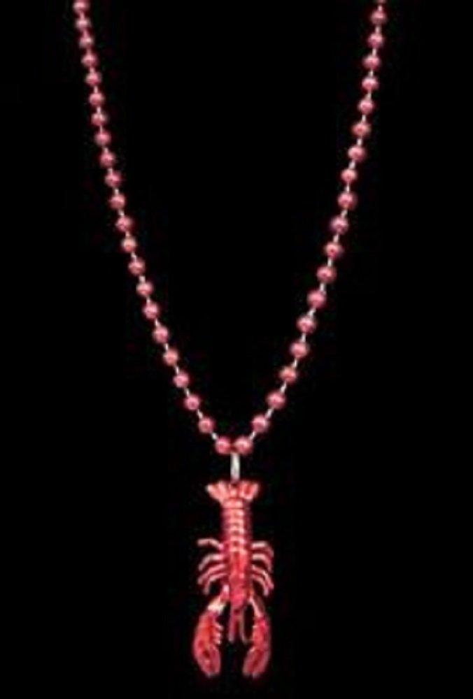 Mardi Gras, Red Crawfish/Lobster/Seafood Medallion Beads, 33'', 30 Dozen (360pcs).
