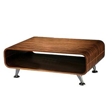 Couchtisch Tisch Loungetisch Club Perugia XXL 33x605x90cm Zebra Dunkelbraun