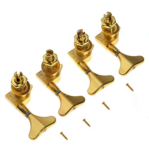 Kmise A1642 1 Set of 4R Guitar Bass Tuner Machine Heads Tuning Pegs Gold by Kmise (Image #2)
