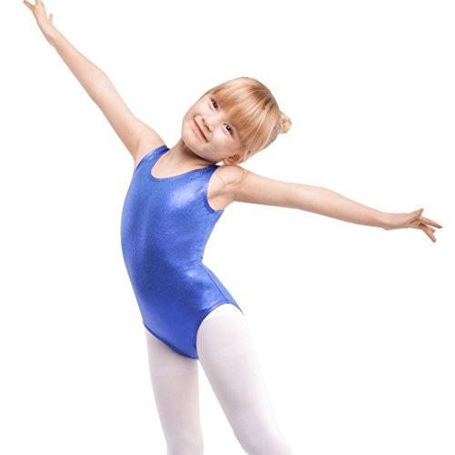 Gymnastics Sleeveless Leotards For Girls,Sparkle Mystique Dance Leotard (Royal Blue, 110(Recommended Age 2-3 Years)) (Blue Royal End)