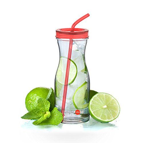 drink bottle with straw - 1