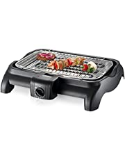 SEVERIN Gril Barbecue, Gril de table, Surface du Gril (37x23cm), 2.300W, PG 1511, Noir