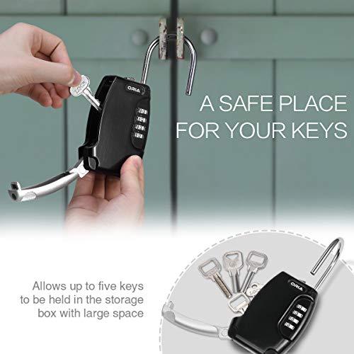 ORIA Key Storage Lock Box, Key Lock Box with 4 Digit, Key