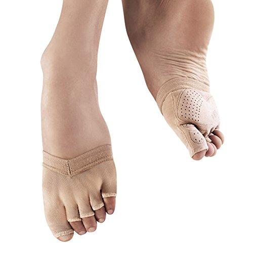 Bloch Soleil S0662 Foot Glove (Adult L (9-10), Tan)