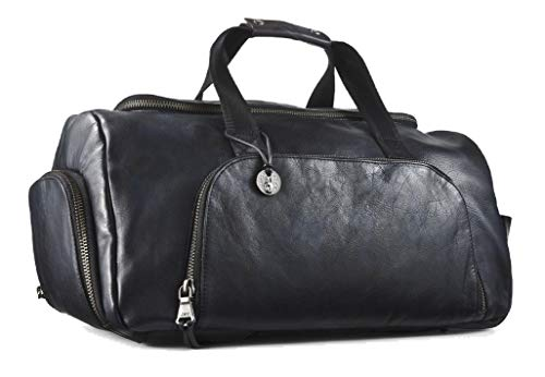 John Varvatos Men's Brooklyn Convertible Duffle Bag Backpack Marbled Midnight
