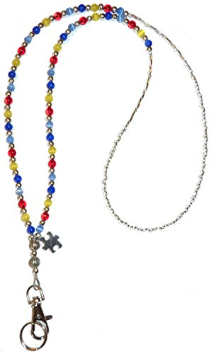 Autism Awareness beaded Lanyard, Fashion Women's lanyard 34