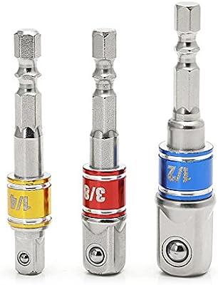 3 Satz Steckschlüsseleinsatz Bohrer Steckschlüssel Power Extension Bar 1//4
