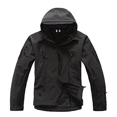 Men's Tactical Militray Hunting Special Ops Jacket Camping Combat Coat Black