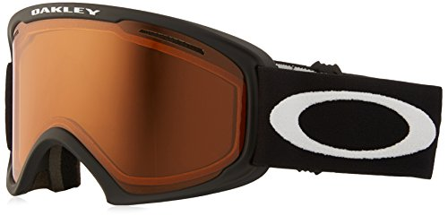 Oakley 02 XL Snow Goggle, Matte Black with HI Yellow and Dark Grey - Oakleys Yellow Black And