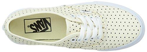 Vans V-0xg6 Classic Bianco / Nero Autentici Sneakers Autentiche Slim (perf Stars)