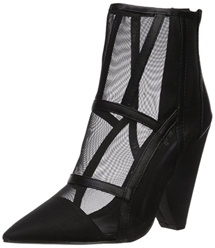 Qupid Women's Wiley-08 Ankle Boot, Black, 9 M US