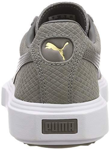 Puma Adulte Breaker Gray charcoal charcoal Suede Basses White puma Gray Mixte Gris Sneakers TUqTrw