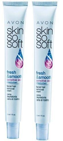 2 Avon SKIN SO SOFT Fresh & Smooth Sensitive Skin Facial Hair Removal Cream by Avon