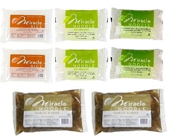 Miracle Noodle Top Variety 6 Pack + 2 Garlic (8 Pack) by Miracle Noodle