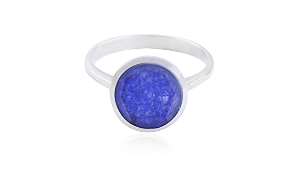 Designer Jewelry Highest Seller Gift for Graduation Handmade Rings Good Gemstones Round Faceted Indiansappire Rings 925 Silver Blue Indiansappire Good Gemstones Ring