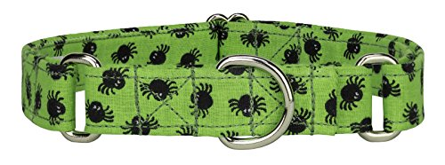 Country Brook Design 3/4 Inch Lil Spiders Designer Martingale Dog Collar-Medium
