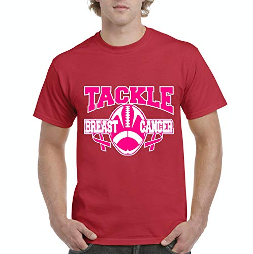 (NIB Tackle Breast Cancer Football Men's Short Sleeve T-Shirt (3XLR))