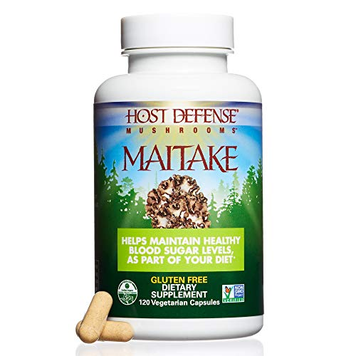(Host Defense - Maitake Mushroom Capsules, Naturally Promotes Normal Blood Sugar Metabolism, Cellular Health, and Immunity, Non-GMO, Vegan, Organic, 120 Count )