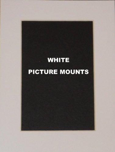 4 x White Picture/Photo Mounts *All Sizes* (6x4 to fit 5x3)