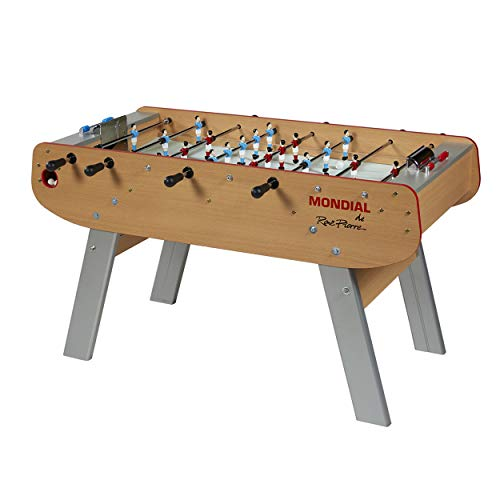 (René Pierre Mondial Foosball Table with Telescopic Rods, Unbreakable and Non-Revolving Players and Single Goalies)
