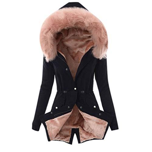 RUIVE Winter Warm Overcoat for Women's Faux Fur Lining Coat Thick Windbreaker Jacket Snow Outdoor Hooded Outwear