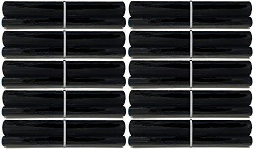 (10-pack of UX-5CR Fax Film Ribbon Refill Rolls Compatible with Sharp Fax UX-P100 UX-P105 UX-P115 UX-P200 UX-P200RF UX-CL220 UX-255 UX-A255 UX-260 UX-A260 UX-CC500 UX-CD600 UX-LD600)