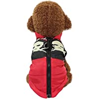 Litetao Winter Cute High-necked Dog Pet Warm Clothing Small Puppy Zipper Soft Costume