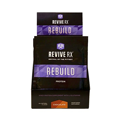 Revive Rx Rebuild Whey Protein Isolate Singles 39 grams Each (8 Pack), Chocolate