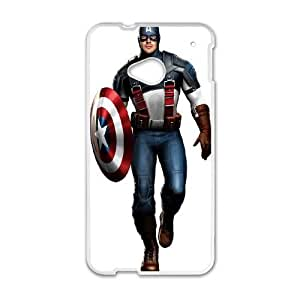 Captain America HTC One M7 Phone Case Black white Gift Holiday Gifts Souvenir Halloween Gift Christmas Gifts TIGER157670