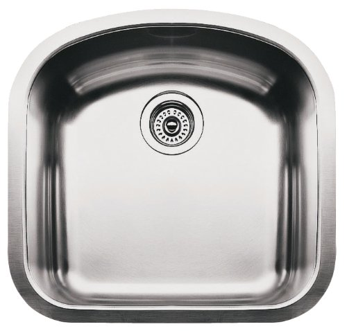 (Blanco BL440087 Blanco Elements 9-Inch Deep Single Bowl Undermount Wave Plus Series, Satin Polished)