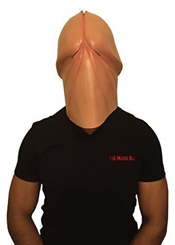 The Mask Biz™ Penis Mask Dick Head Funny Mask (Halloween Masks Scary)