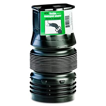 Flex-Drain ADP53202 Downspout Adaptor, Landscaping Drain Pipe Adapter 2 by 3 by 4-Inch