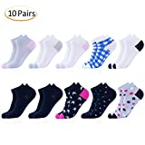 Women's Bamboo Ankle No Show Socks - 10 pack (Classic)