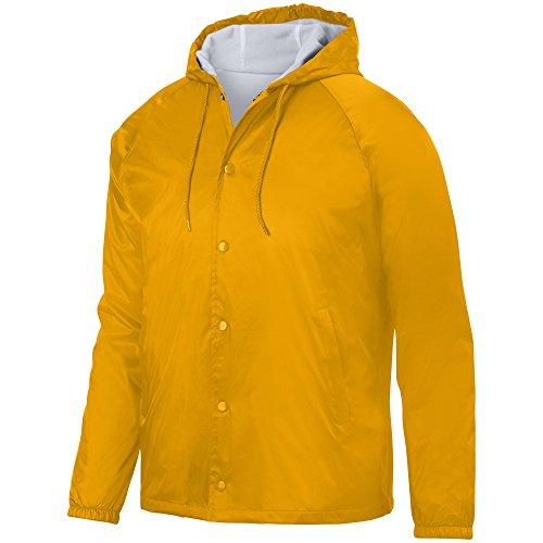 - Augusta Sportswear Men's Hooded Coach's Jacket L Gold