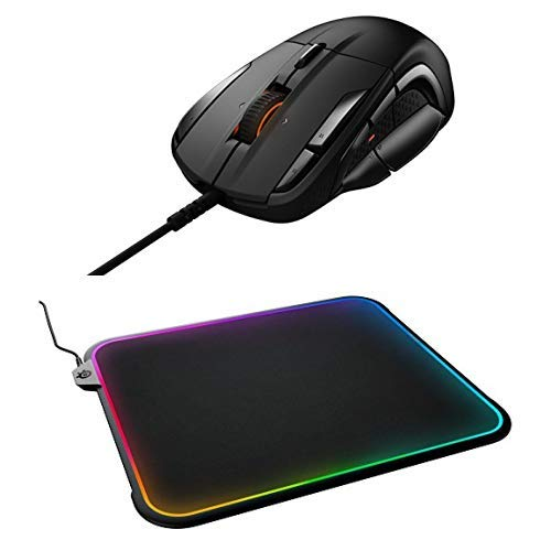 SteelSeries Rival 500 Mouse and QcK Prism Mousepad Bundle