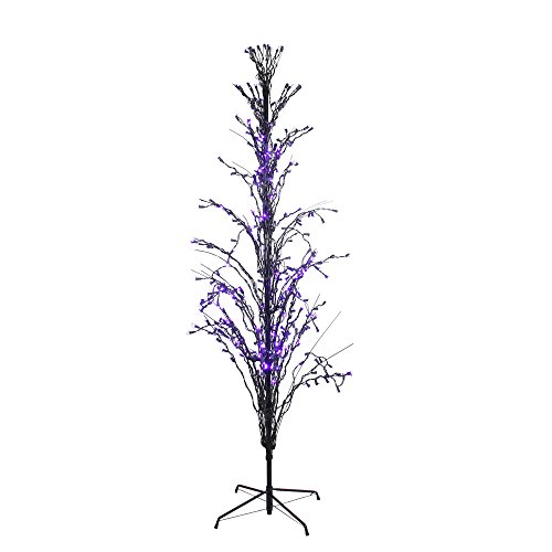 Northlight Seasonal 6' Purple LED Lighted Halloween Cascade Twig Tree Outdoor Yard Art Decoration - from Northlight Seasonal
