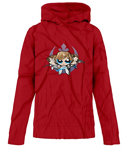 Price comparison product image BSW Youth Girls Jedi Rebel Alliance Powerpuff Girls Star Wars Hoodie Med Red