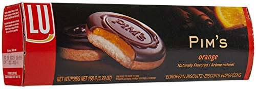 LU Biscuits European Biscuits - Pim's With Orange Filling - 5.29 Ounces (Chocolate Orange Cookies)