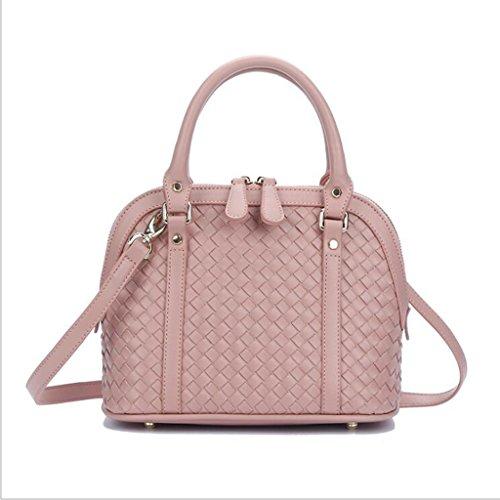 A 20cm 14 Borsa Borse Donna Femminile Liu Diagonali Da dimensioni 25 Pink Mano Shell Tote colore Black Tracolla Tessuti Donna Yqx1xFa